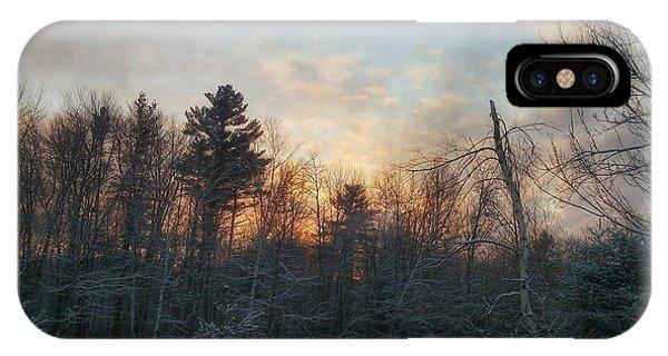 Sundown Winter New England IPhone Case