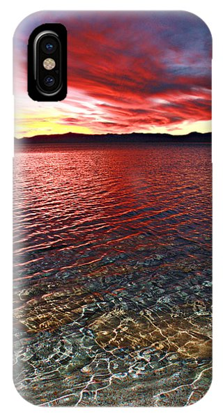 IPhone Case featuring the photograph Sundown...the Water's Edge by Sean Sarsfield