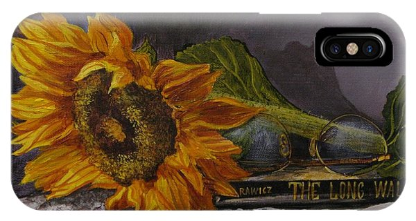 Sunflower And Book IPhone Case