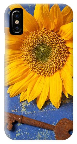 Sunflower And Skeleton Key IPhone Case