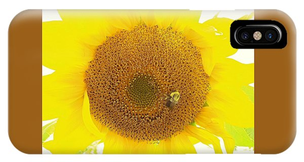 Sunflower And The Happy Bee IPhone Case