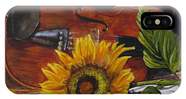 Sunflower And Violin IPhone Case