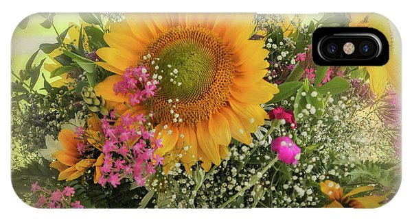 IPhone Case featuring the photograph Sunflower Bouquet by Expressive Landscapes Fine Art Photography by Thom