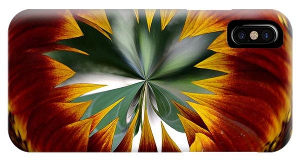 Sunflower Circle IPhone Case