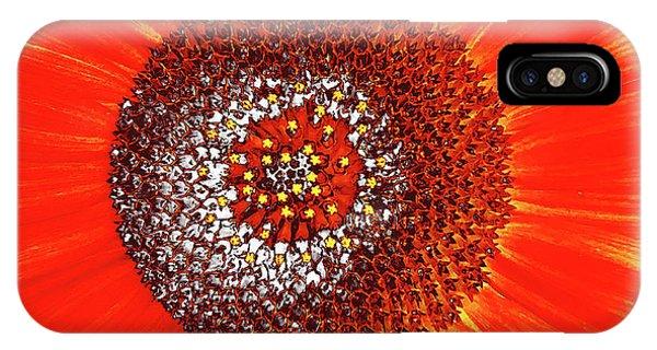 Sunflower Close IPhone Case