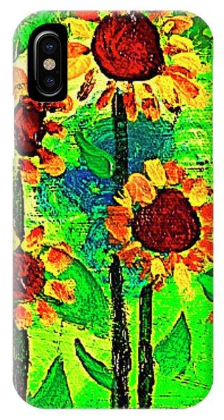 Sunflower Closeup Phone Case by Angela Annas