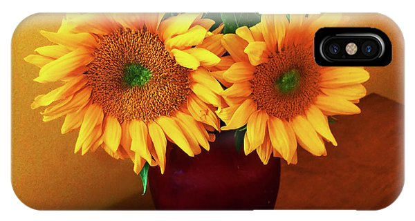 Sunflower Corner IPhone Case