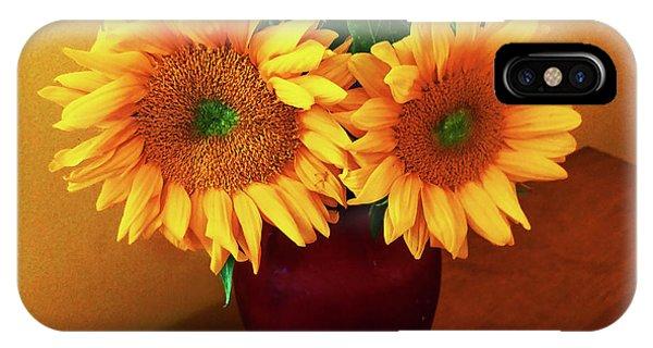 Sunflower Corner IPhone Case