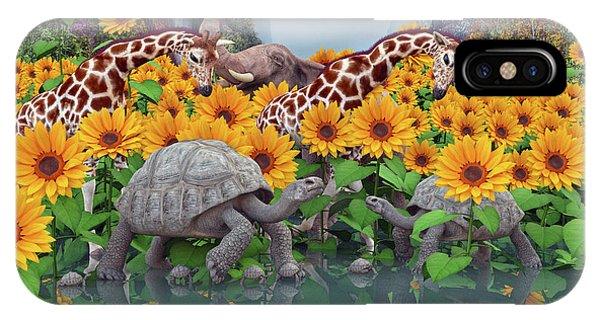 Sunflower iPhone Case - Sunflower Daydream II by Betsy Knapp