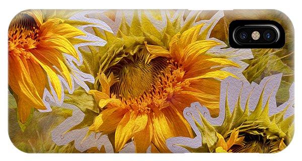 Sunflower Delight IPhone Case