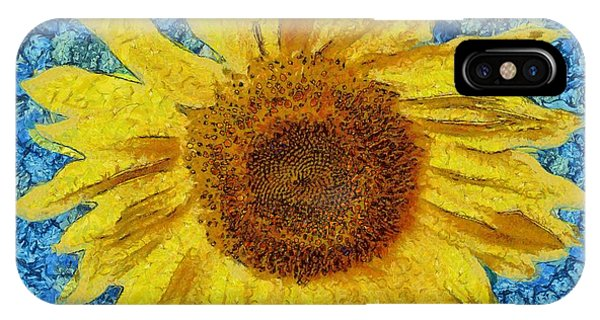Sunflower iPhone Case - Sunflower Design by Edward Fielding