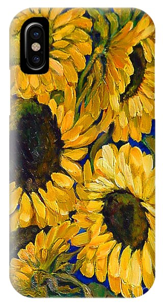 Sunflower Faces IPhone Case