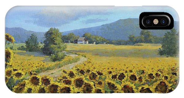 Sunflower Fields IPhone Case