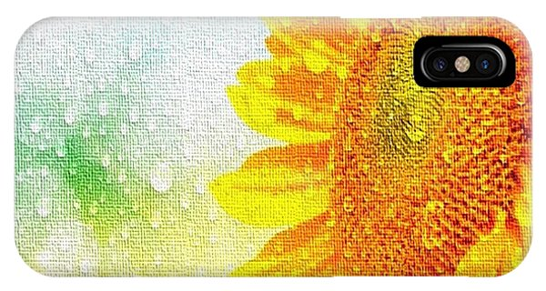 Sunflower In A Sunshower IPhone Case