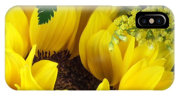 Blooming iPhone Case - Sunflower Macro by Tom Mc Nemar