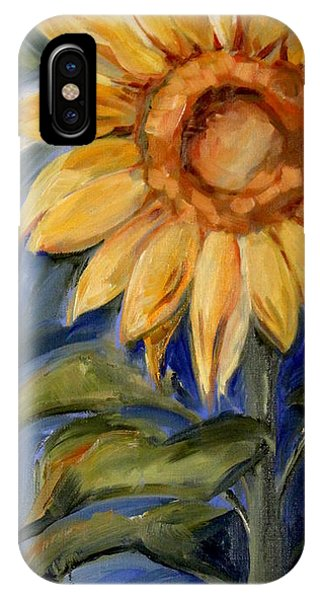 iPhone Case - Sunflower Oil Painting by Maria Reichert
