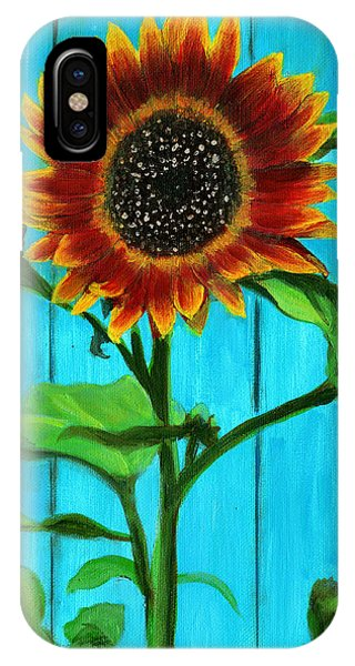 Sunflower On Blue IPhone Case