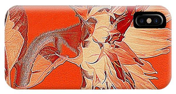 Sunflower - Orange Deco Burst IPhone Case