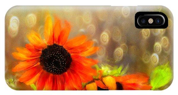Sunflower Rain IPhone Case