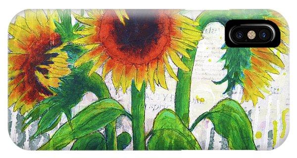 Sunflower Sonata IPhone Case