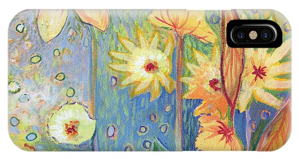 Sunflower iPhone Case - Sunflower Tropics Part 3 by Jennifer Lommers