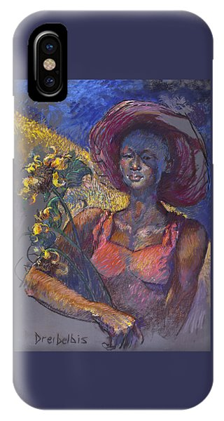 Sunflower Woman IPhone Case
