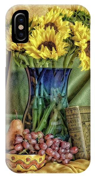Sunflowers And Blue Vase IPhone Case