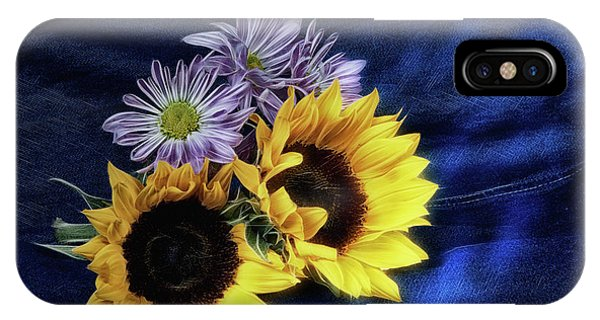 Blooming iPhone Case - Sunflowers And Daisies by Tom Mc Nemar