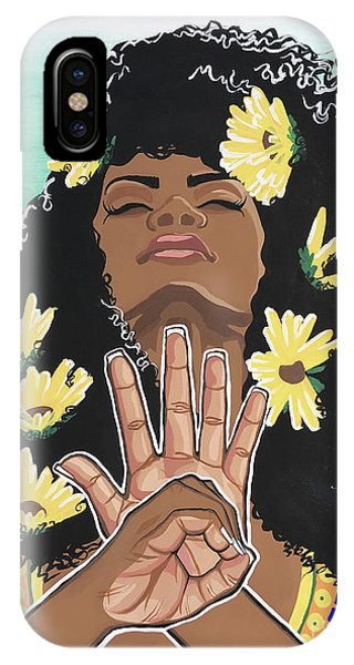 African American iPhone Case - Sunflowers And Dashiki by Alisha Lewis
