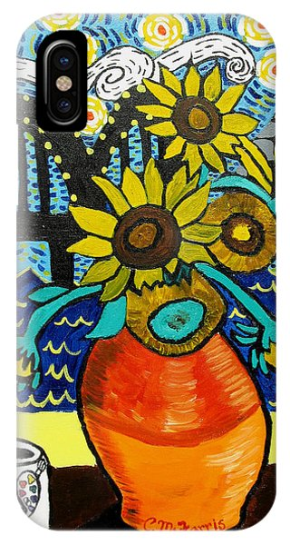 Sunflowers And Starry Memphis Nights IPhone Case