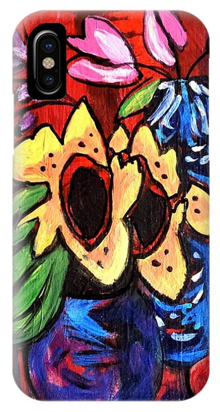 Sunflowers And Tulips IPhone Case