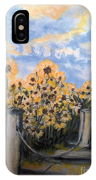 Sunflowers At Rest Stop Near Great Sand Dunes IPhone Case