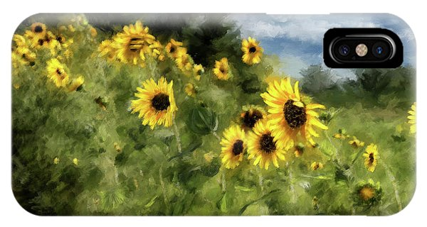Sunflowers Bowing And Waving IPhone Case