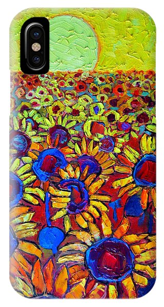 Sunflowers Field At Sunrise IPhone Case