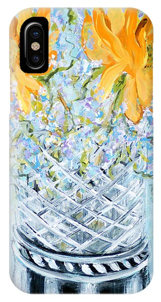 Sunflowers In A Vase. Painting IPhone Case