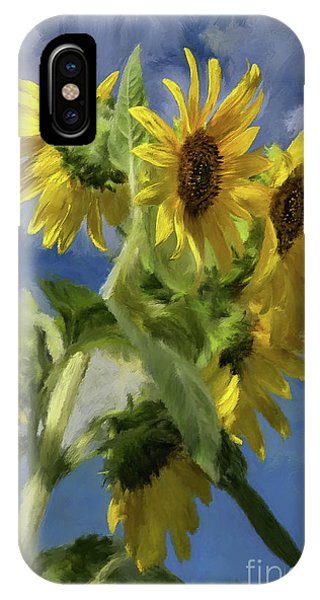 Sunflower iPhone Case - Sunflowers In The Sun by Lois Bryan