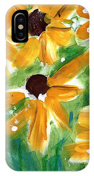 Sunflower iPhone Case - Sunflowers by Linda Woods