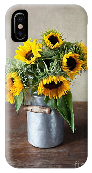 Sun iPhone Case - Sunflowers by Nailia Schwarz