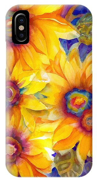 Sunflowers On Blue II IPhone Case