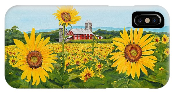 Sunflowers On Route 45 - Pennsylvania- Autumn Glow IPhone Case