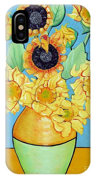Sunflowers Tribute To Vincent Van Gogh II IPhone Case