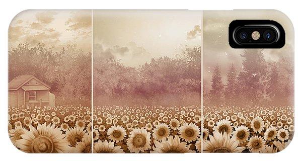 Sunflower iPhone Case - Sunflowers Triptych 3 by Bekim M