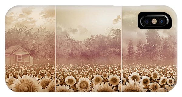 Sunflowers Triptych 3 IPhone Case