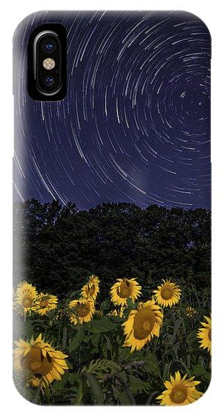 Sunflowers Under The Night Sky IPhone Case