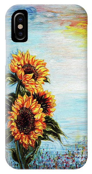 Sunflowers - Where Ocean Meets The Sky IPhone Case