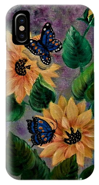 Sunflowers With Butte IPhone Case