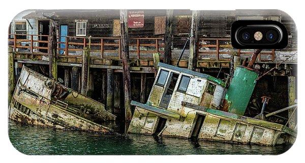 iPhone Case - Sunken Boat In Noyo Harbor by Bill Gallagher