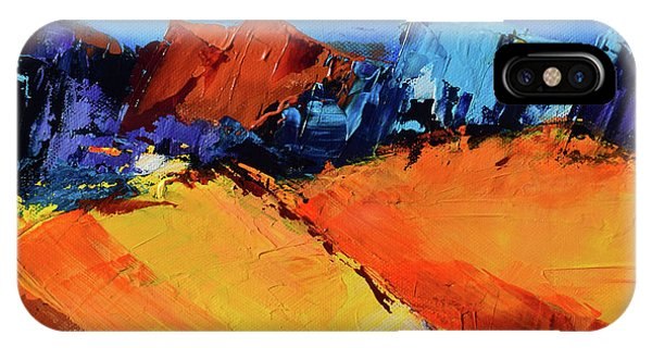 Fauvism iPhone Case - Sunlight In The Valley by Elise Palmigiani