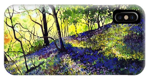 iPhone Case - Sunlit Bluebell Wood by Paul Dene Marlor