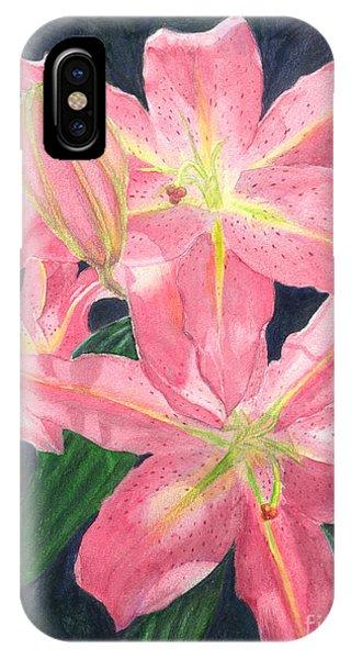 Sunlit Lilies IPhone Case